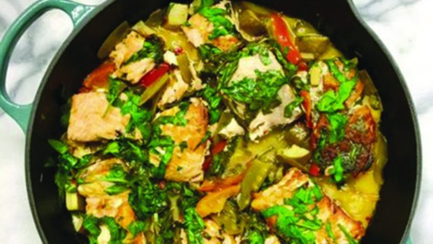 Recipe: Coconut Lime Salmon with Vegetables